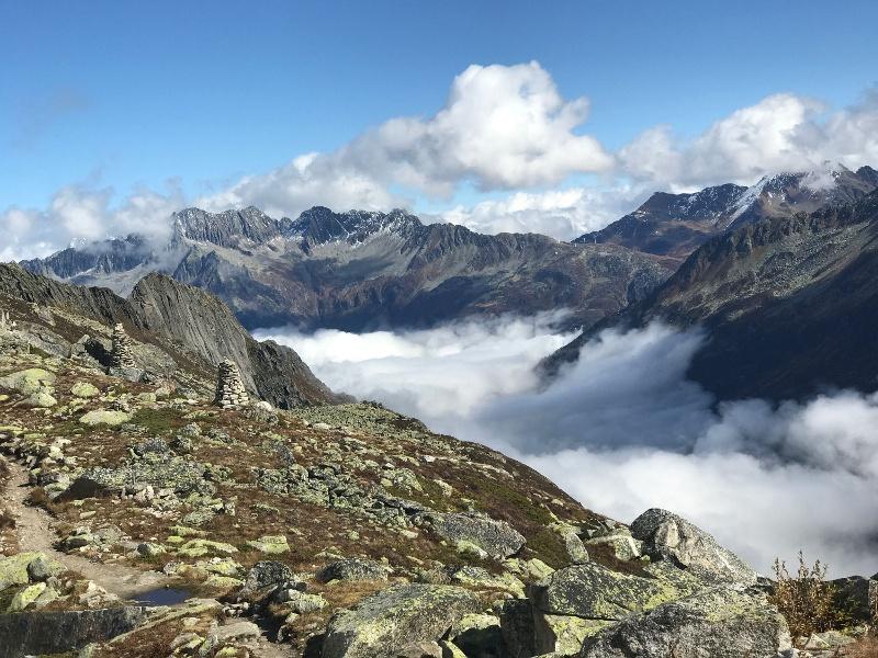Aussicht nahe Bergseehütte SAC