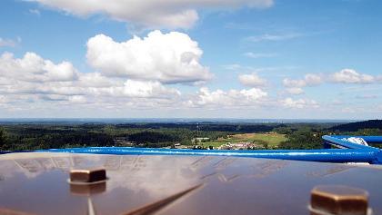 Ausblick vom Turm auf dem Suur Munamägi