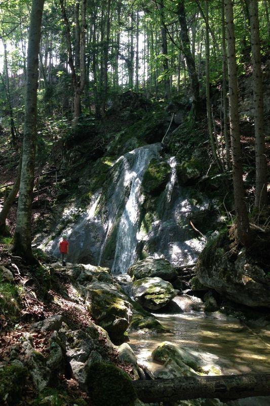 Wandern von Flintsbach aus - Zu den drei Wasserfällen (Variante zurück über den Feldweg am Angermund)