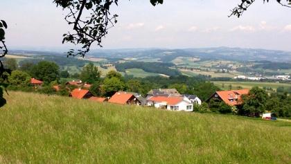 Roithener Kogel 449m, Blick ins Eferdinger Becken