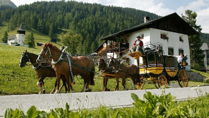 Pferdekutsche in Davos