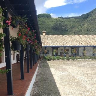 Hacienda Zuleta's main courtyard