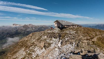 Chäserrugg mit Gipfelgebäude
