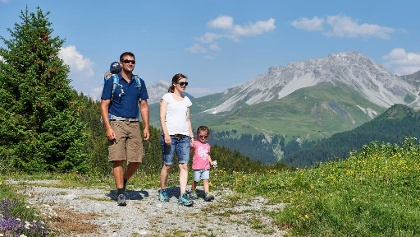 Familienwandern in Arosa