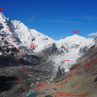 Wege und Routen von der Kaiser-Franz-Josefs Höhe