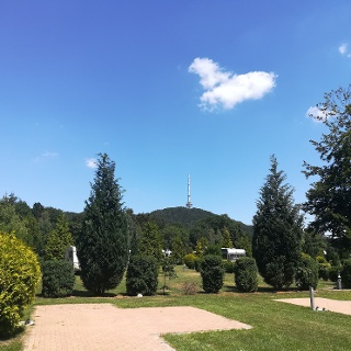 Touristenstellplatz mit Blick auf den Teutoburger Wald