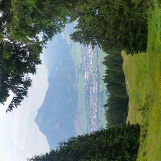 Blick auf Sonthofen vom 6er Sessel Bergstation