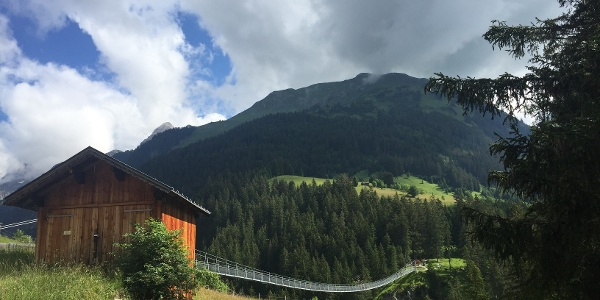 The Holzgau Suspension Bridge