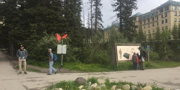 Trailhead at Lake Louise