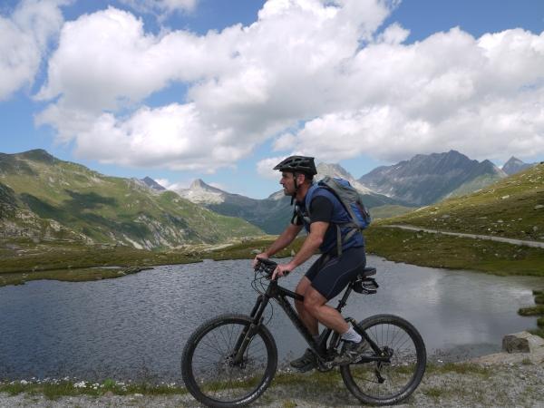 Mountainbiker beim Lai Urlaun