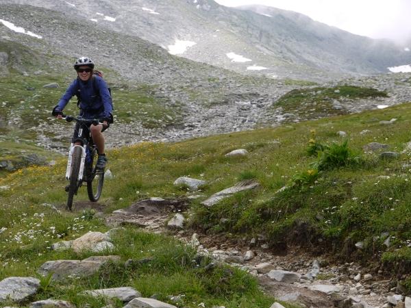 Mountainbiker im Val Maighels