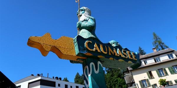 Wegweiser zum Caumasee.