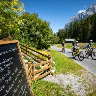 Anfahrt zum Berggasthaus Eggwald