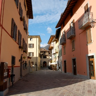 The central street of Pieve