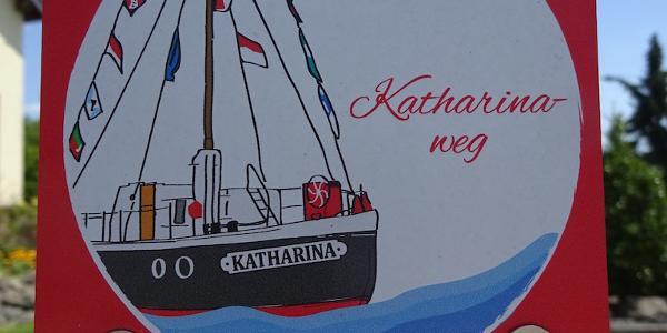Wegemarkierung des Katharinawegs