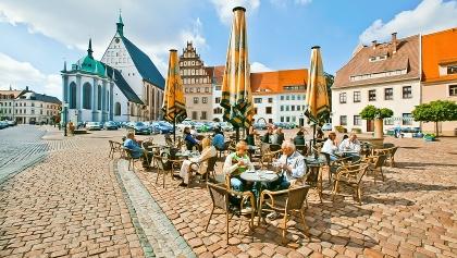 Untermarkt mit Dom St. Marien und Stadt- und Bergbaumuseum