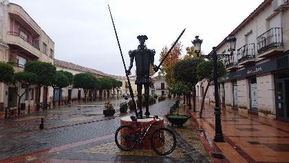 Statue des Don Quijote in Argamasilla