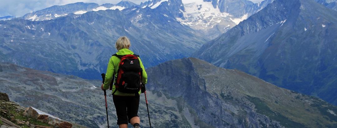 Auf dem Weg zur Hagener Hütte mit direktem Blick zur Hochalmspitze