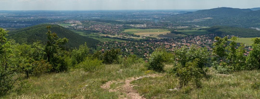 Downhill on Nagy-Kevély towards Budapest.