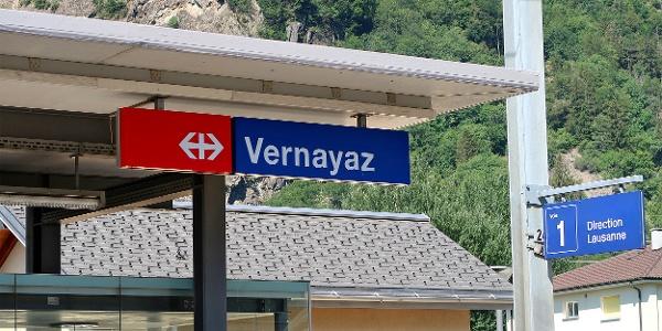 Bahnhof Vernayaz.