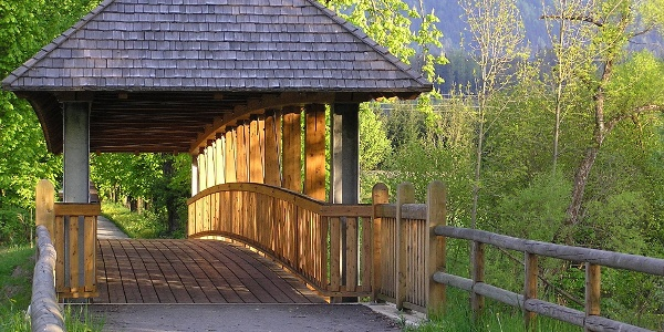 Brücke in die Au