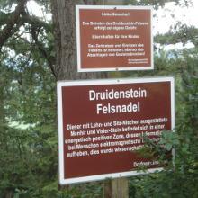 Infotafel Druidenstein