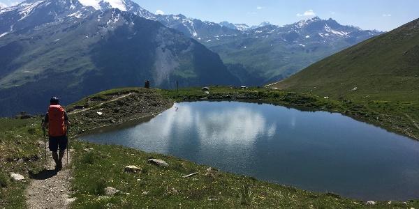 The descent from Col de Torrent