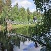 Harrisuvanto hanging bridge along Pieni Karhunkierros in Oulanka National Park