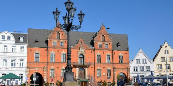 Markt und Rathaus von Glückstadt