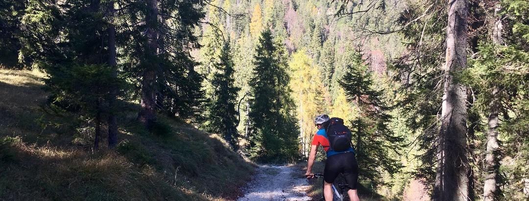 Trail Abfahrt nach dem Kögljoch