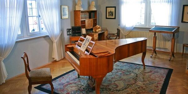 Klavierzimmer im Robert-Schumann-Haus Zwickau