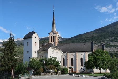 Salgesch: Johanniter-Hospiz und Johannes-Kirche