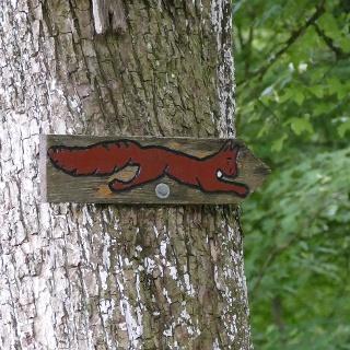 Beschilderung Eichhörnchen
