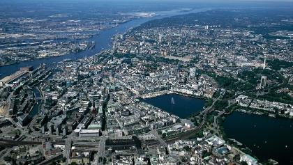 Luftbild von Hamburg