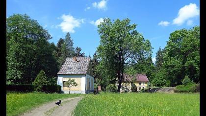 Čechurův mlýn im Tal des Radnický potok