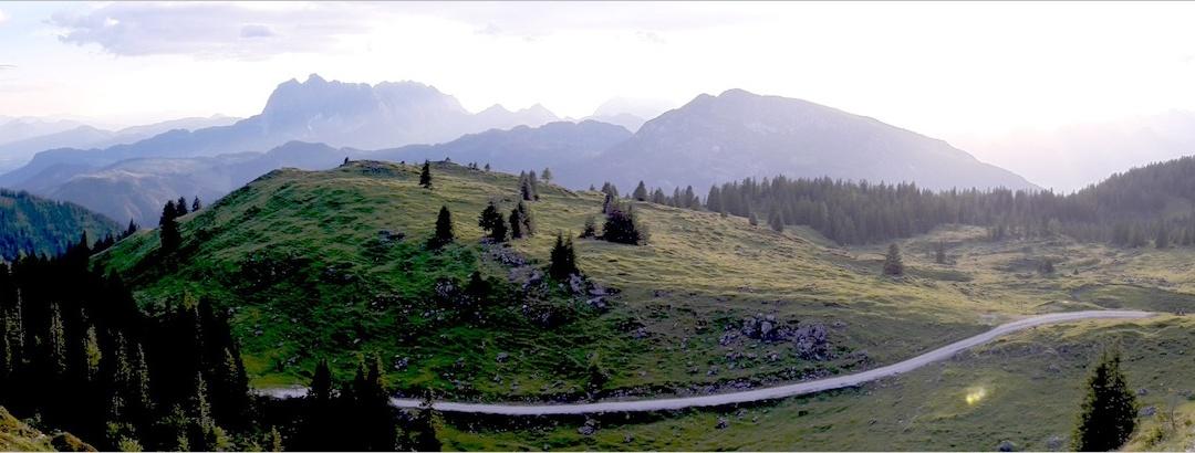 Panorama im Abstieg vom Fellhorn