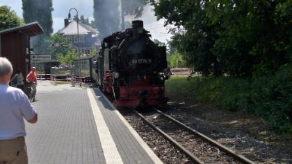 Schmalspurbahn, Haltestelle Weißes Ross in Radebeul
