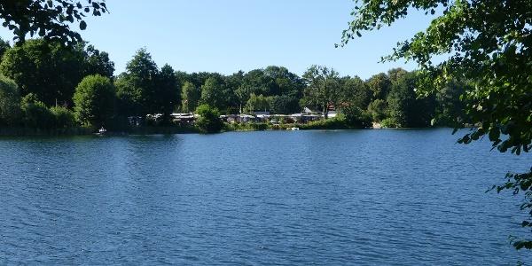 Waldsee - im Hintergrund der Campingplatz