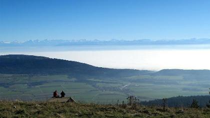Alpensicht von Tête de Ran.