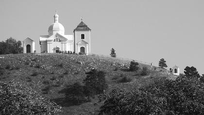View to chapel of St. Sebestian on Holly hill (Svaty Kopecek)