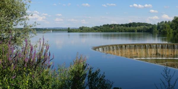 Blick über den Lippesee vom Auslaufbauwerk