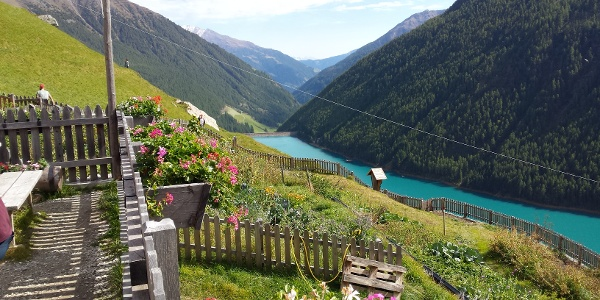 The View from Finailhof over Vernago Lake