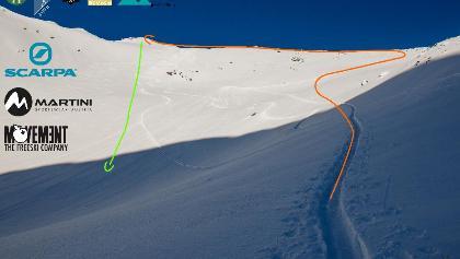 Svištový Štít Topo Gipfelhang - Murmeltierspitze