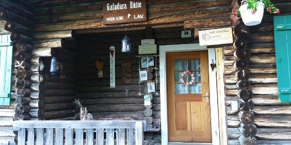 Haupteingang Gafadurahütte