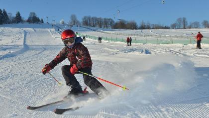 Skifahrer in Geising