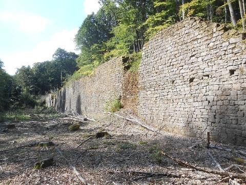 Verlademauer auf dem Historischen Grubenweg Nordfeld