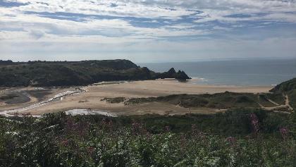 Three Cliffs Bay.