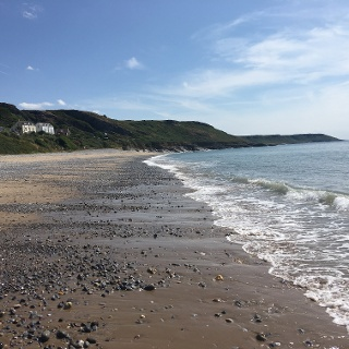 Port Eynon beach.