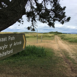 Coast path to Whiteford Nature Reserve.