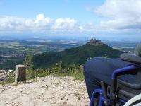 Blick vom Zeller Horn zur Burg Hohenzollern